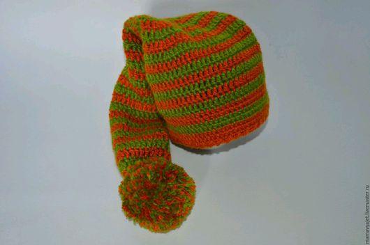 Для новорожденных, ручной работы. Ярмарка Мастеров - ручная работа. Купить шапка колпак для фотосессии. Handmade. Разноцветный, гномик, для фотосессии