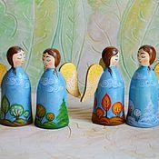 Мини фигурки и статуэтки ручной работы. Ярмарка Мастеров - ручная работа Ангелы, времена года, ангелочки с росписью. Handmade.