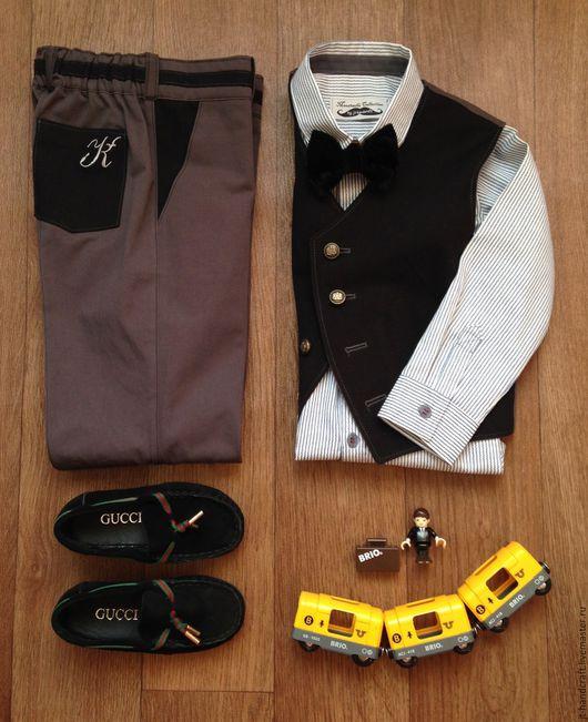"""Одежда для мальчиков, ручной работы. Ярмарка Мастеров - ручная работа. Купить Брюки """"Классика"""". Handmade. Комбинированный, школьная одежда"""