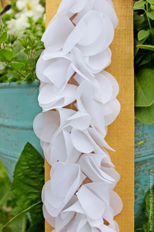 Другие виды рукоделия ручной работы. Ярмарка Мастеров - ручная работа. Купить Шифоновые  цветочки на  ленте. 3D кружево. Handmade.