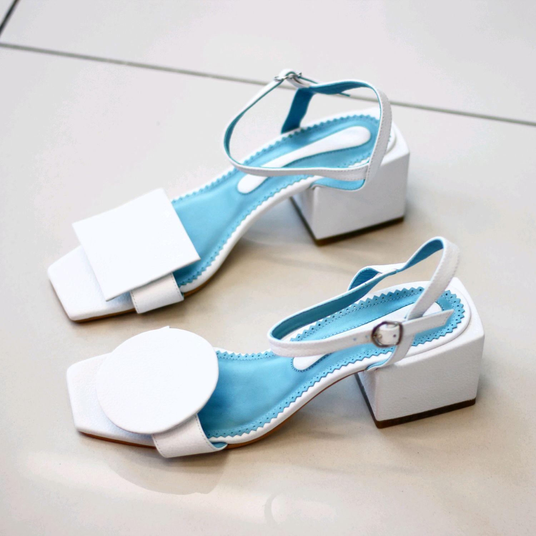 Обувь ручной работы. Ярмарка Мастеров - ручная работа. Купить Босоножки геометрия. Handmade. Босоножки, модная обувь, кожа