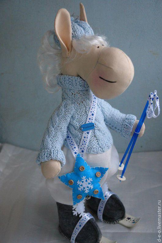 Куклы Тильды ручной работы. Ярмарка Мастеров - ручная работа. Купить Лошадка-лыжница. Handmade. Комбинированный, лошадка игрушка