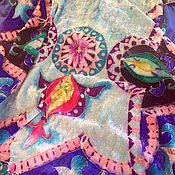 """Аксессуары ручной работы. Ярмарка Мастеров - ручная работа Палантин на бархате """" Уют"""". Handmade."""