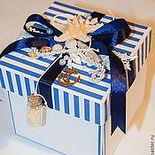 Свадебный салон ручной работы. Ярмарка Мастеров - ручная работа Коробочка для денег Magic Box Морская. Handmade.
