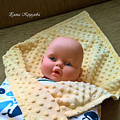 """Работы для детей, ручной работы. Ярмарка Мастеров - ручная работа Одеялко-плед для новорожденного """"Плюшевый"""". Handmade."""