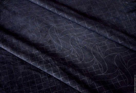 Шитье ручной работы. Ярмарка Мастеров - ручная работа. Купить Мягкая натуральная черная замша 0,5 мм - С тиснением -10%. Handmade.