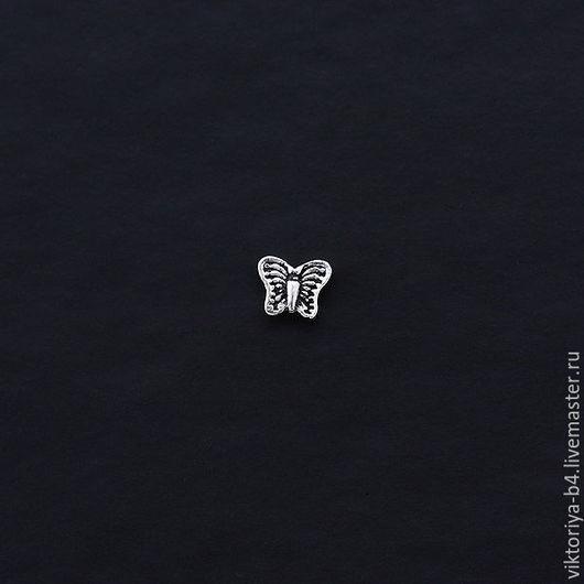 Для украшений ручной работы. Ярмарка Мастеров - ручная работа. Купить Бусина серебро 925 пробы бабочка малая. Handmade.