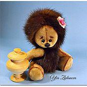 Куклы и игрушки ручной работы. Ярмарка Мастеров - ручная работа Норковая Ежичка тедди Розочка. Handmade.