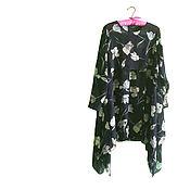 Одежда handmade. Livemaster - original item Viscose chiffon dress inspired by Red Valentino. Handmade.