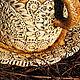 Кружки и чашки ручной работы. Кружка с блюдцем. Керамика Натальи Ермаковой. Интернет-магазин Ярмарка Мастеров. Охристый, Блюдце