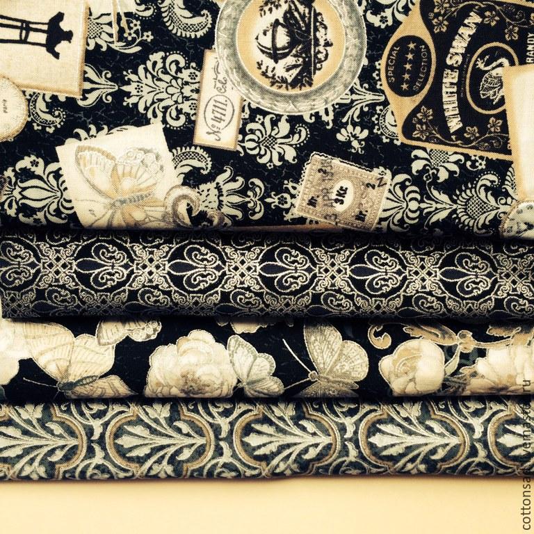 """ручной работы. Ярмарка Мастеров - ручная работа. Купить Набор тканей. (4 вида) """"Королевская печать"""". Американский хлопок. Handmade."""