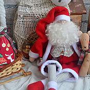 Куклы Тильда ручной работы. Ярмарка Мастеров - ручная работа Санта в стиле Тильда. Handmade.