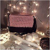 Классическая сумка ручной работы. Ярмарка Мастеров - ручная работа Шоколадно-розовая сумочка. Handmade.