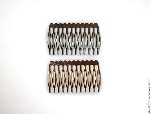 Другие виды рукоделия ручной работы. Ярмарка Мастеров - ручная работа. Купить Гребни для волос металлические основа. Handmade. Серебряный