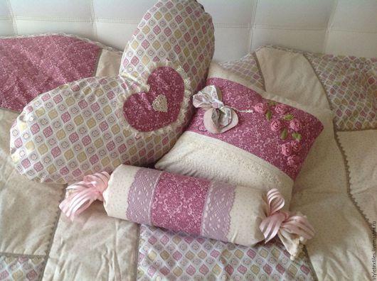 Текстиль, ковры ручной работы. Ярмарка Мастеров - ручная работа. Купить Интерьерные подушечки из американского хлопка. Handmade. Комбинированный, дизайн