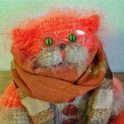 """Куклы и игрушки ручной работы. Ярмарка Мастеров - ручная работа Кот вязаный """" Очевидное- невероятное"""". Handmade."""