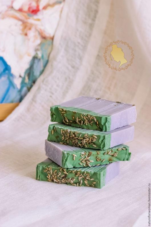 Мыло ручной работы. Ярмарка Мастеров - ручная работа. Купить ЛАВАНДОВОЕ МЫЛО. Handmade. Сиреневый, зеленый, мыло с нуля