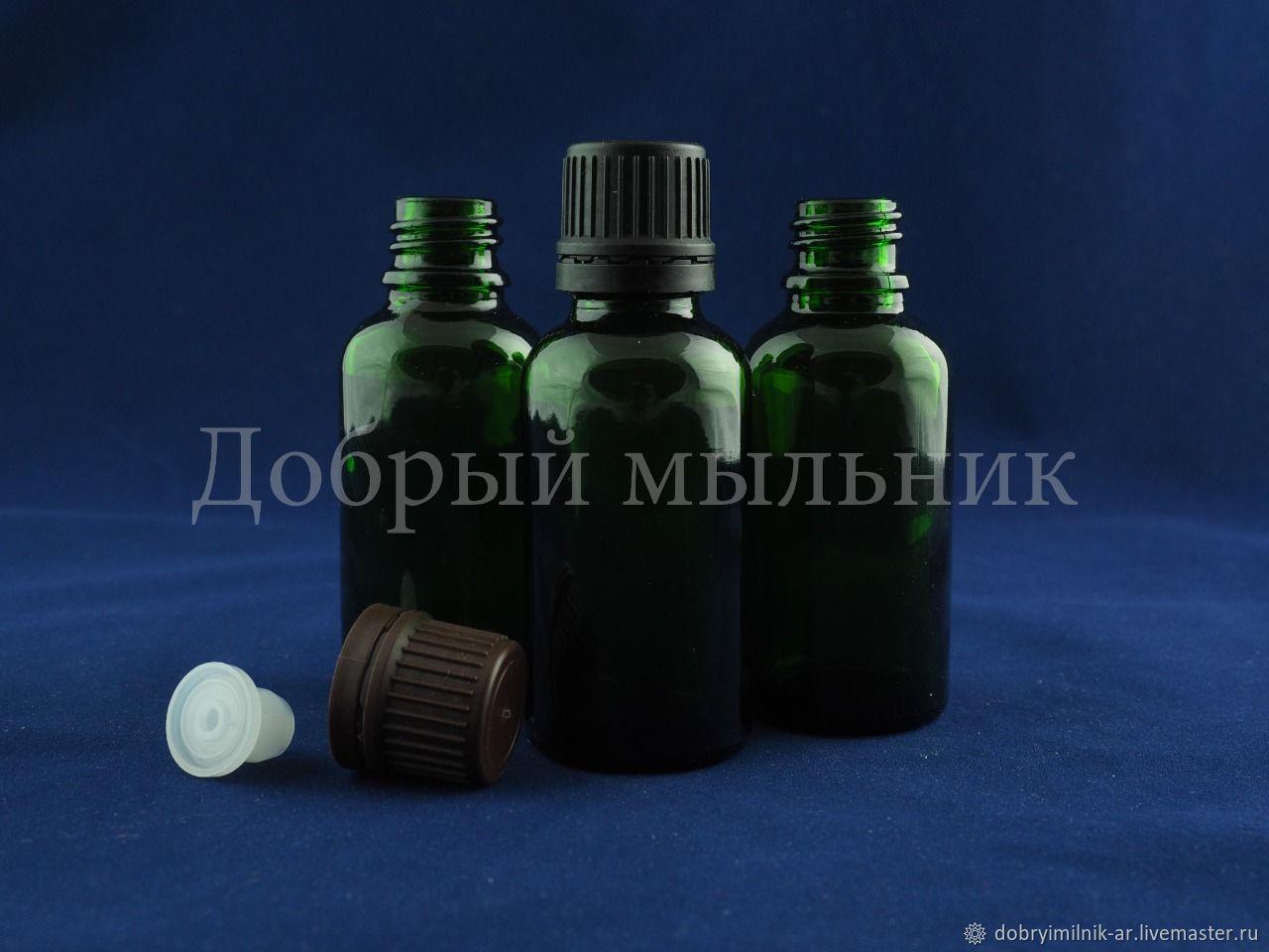 Флакон 50 мл стекло зеленый, Флаконы, Москва,  Фото №1