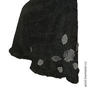 Одежда ручной работы. Ярмарка Мастеров - ручная работа Юбка длинная вельветовая с запАхом черная. Handmade.