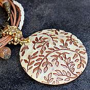 Украшения ручной работы. Ярмарка Мастеров - ручная работа украшение кулон из полимерной глины нежный. Handmade.