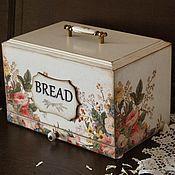 """Хлебницы ручной работы. Ярмарка Мастеров - ручная работа """"Розы Прованса"""" хлебница. Handmade."""