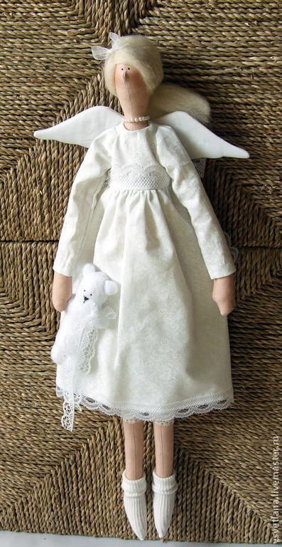 Куклы Тильды ручной работы. Ярмарка Мастеров - ручная работа. Купить Ангел в белом. Handmade. Белый, интерьер, кружево