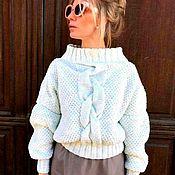 Одежда handmade. Livemaster - original item Women`s sweater oversize white. Handmade.