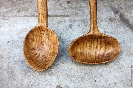 Ложки ручной работы. Ярмарка Мастеров - ручная работа. Купить Деревянная ложка соусник из дуба, как раз подходят для деревянных мисо. Handmade.