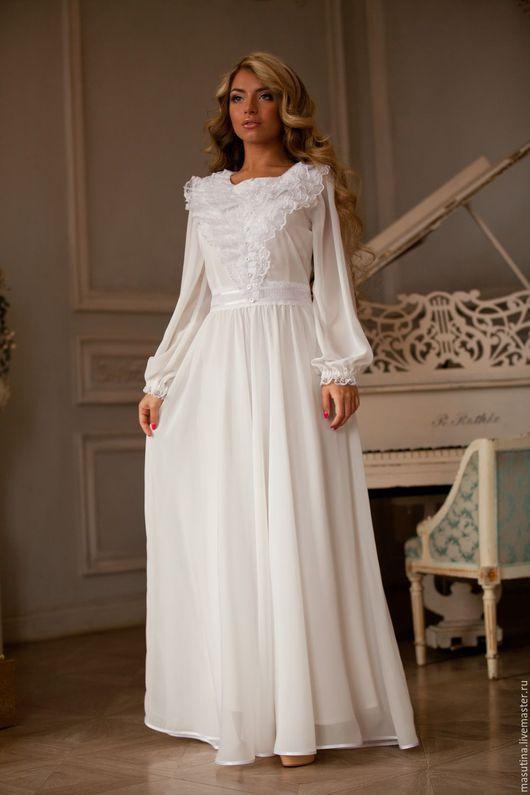 """Платья ручной работы. Ярмарка Мастеров - ручная работа. Купить Платье """"Bridal"""". Handmade. Белый, длинное платье"""