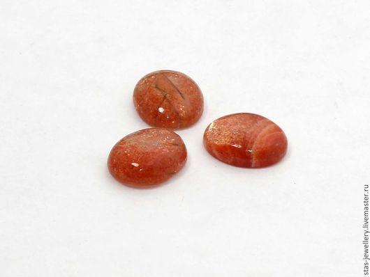 Для украшений ручной работы. Ярмарка Мастеров - ручная работа. Купить Солнечный камень (гелиолит). Handmade. Рыжий, Природные камни