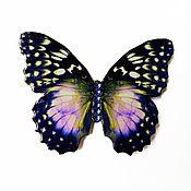 """Украшения ручной работы. Ярмарка Мастеров - ручная работа Брошь-бабочка """"Синие сумерки"""". Handmade."""