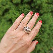Украшения handmade. Livemaster - original item Large silver ring Flowers. Stylish silver jewelry.. Handmade.