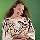 Платья ручной работы. Ярмарка Мастеров - ручная работа. Купить Платье Весна Трикотажное с валяным декором. Handmade. Весна