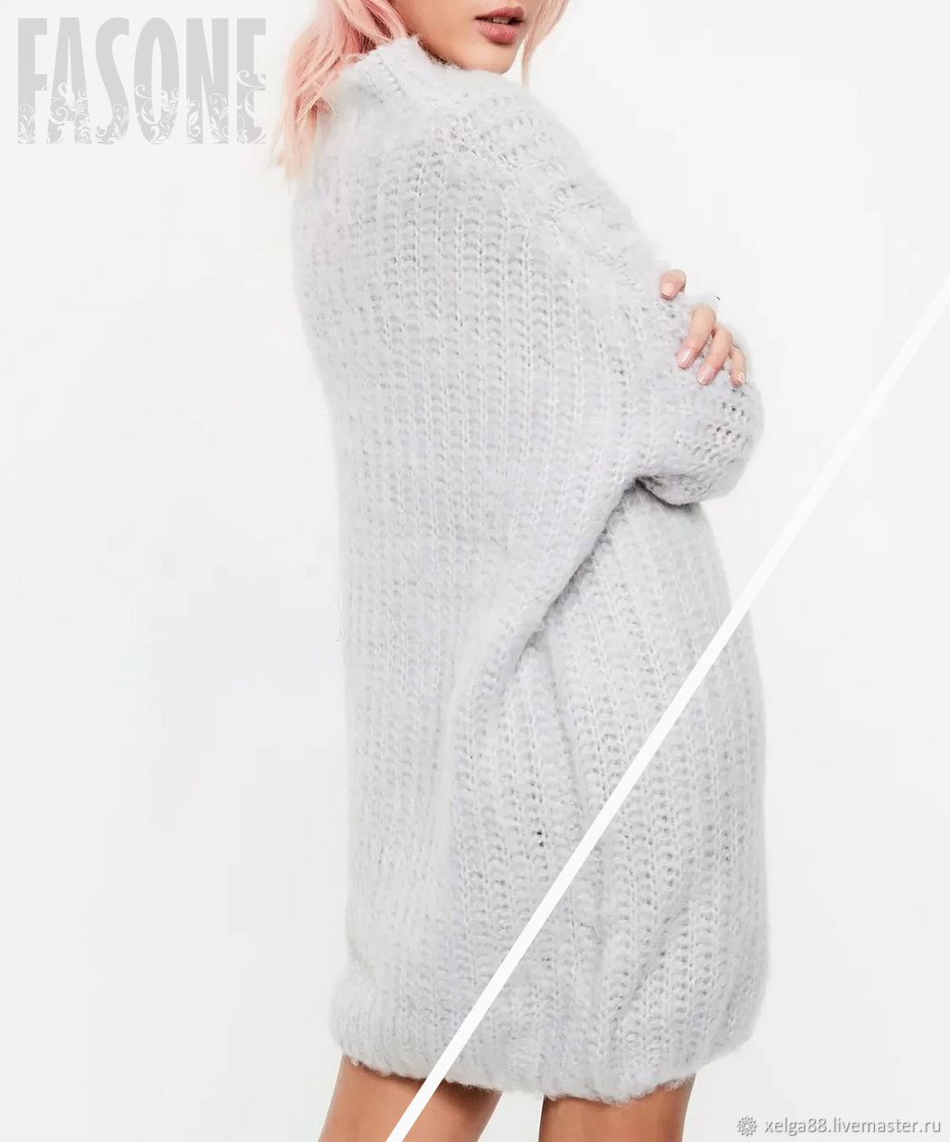 dresses: Knitted dress gray ' Cocoon', Dresses, Prague,  Фото №1