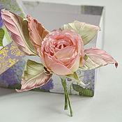 Украшения handmade. Livemaster - original item Textile rose brooch silk