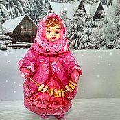 Куклы и игрушки handmade. Livemaster - original item Cotton Christmas toy girl with bagels. Handmade.