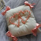 Свадебный салон ручной работы. Ярмарка Мастеров - ручная работа Подушечка для колец Нежность. Handmade.