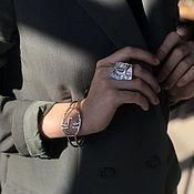Украшения handmade. Livemaster - original item Silver Plated Handmade Face Ring. Handmade.