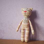 Мягкие игрушки ручной работы. Ярмарка Мастеров - ручная работа Полосатая кошка. Handmade.