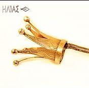 """Украшения ручной работы. Ярмарка Мастеров - ручная работа """"Золотая корона для Принцессы III,""""  Заколка для волос (шпилька). Handmade."""