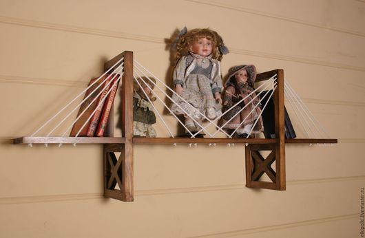 Мебель ручной работы. Ярмарка Мастеров - ручная работа. Купить Полка мост веревочный. Handmade. Комбинированный, полка для игрушек