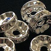 Бусины ручной работы. Ярмарка Мастеров - ручная работа Бусины 10 мм разделители-спейсеры, цвет серебро. Handmade.