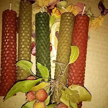 Для дома и интерьера ручной работы. Ярмарка Мастеров - ручная работа Свечи восковые цветные. Handmade.