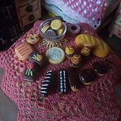 Кукольная еда ручной работы. Ярмарка Мастеров - ручная работа Выпечка, кукольная миниатюра, масштаб 1 к 12, набор.. Handmade.
