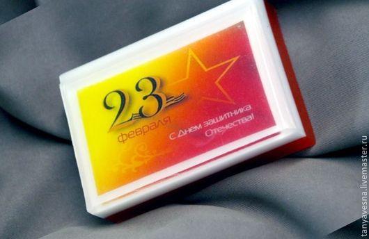 Подарки для мужчин, ручной работы. Ярмарка Мастеров - ручная работа. Купить Мыло с 23 февраля! красное, в подарочной коробочке. Handmade.