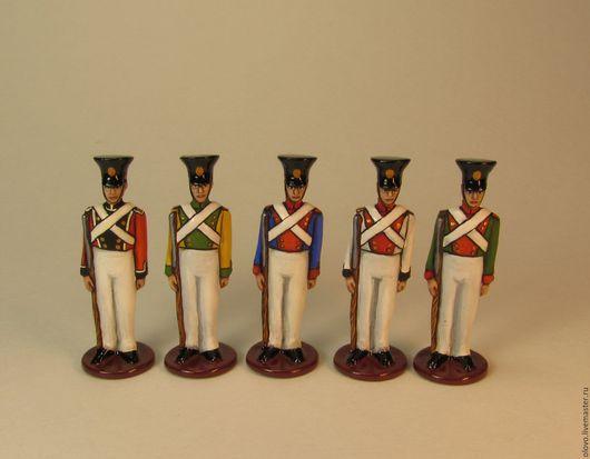 Миниатюрные модели ручной работы. Ярмарка Мастеров - ручная работа. Купить Оловянные солдатики (для детей) набор 5 шт.. Handmade.