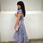 Платья ручной работы. Ярмарка Мастеров - ручная работа Платье шелковое Сиреневый туман. Handmade.