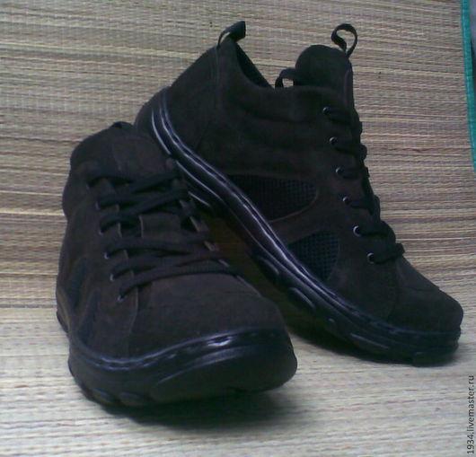 Обувь ручной работы. Ярмарка Мастеров - ручная работа. Купить Ботинки мужские AIR WALK. Handmade. Коричневый, Замша натуральная