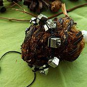 Браслет шамбала с кристаллами пирита