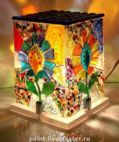 Lamps handmade. Livemaster - handmade. Buy Lamp, nightlight Kaleidoscope-fusing.Lamp, interior, exclusive gift, lighting, pleasant light